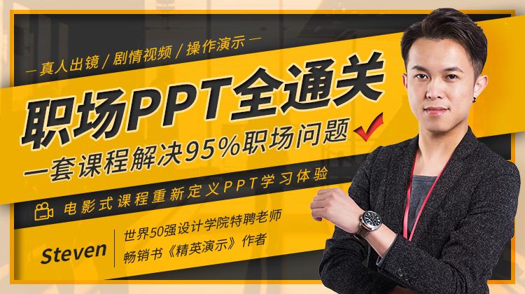 职场PPT全通关,一套课程解决95%职场问题